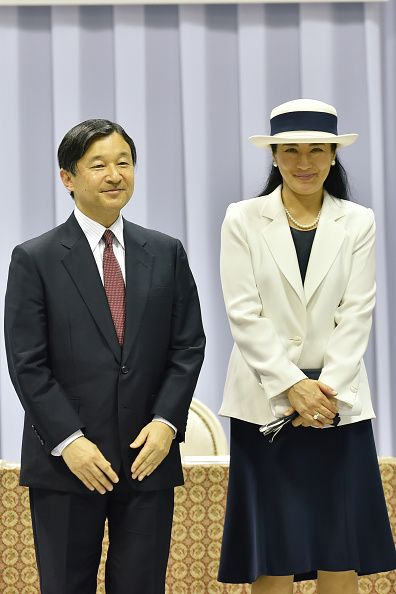 Crown Prince Naruhito and Crown Princess Masako attend the send-off event for the Japanese national team for Rio 2016 Olympics at Yoyogi National Gymnasium on July 3, 2016 in Tokyo, Japan.