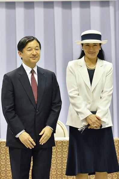 7/3/16* Crown Prince Naruhito and Crown Princess Masako attend theTeam Japan Rio Olympic 2016 Send-Off Ceremony at Yoyogi National Gymnasium on July 3, 2016 in Tokyo, Japan.