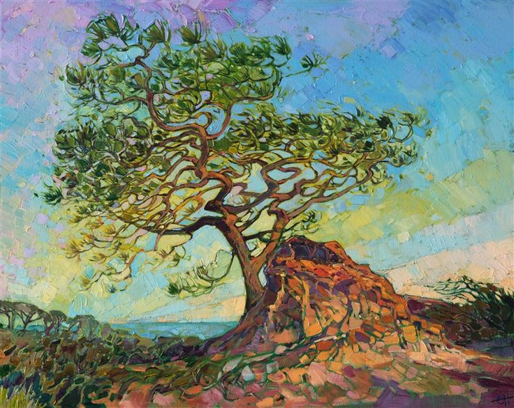 Torrey Pine - Contemporary Impressionism   Landscape Oil Paintings for Sale by Erin Hanson