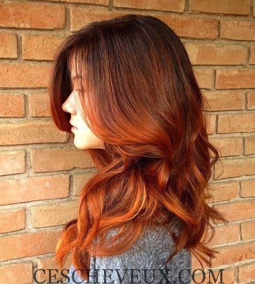 ombre auburn cheveux - Coloration Brun Auburn