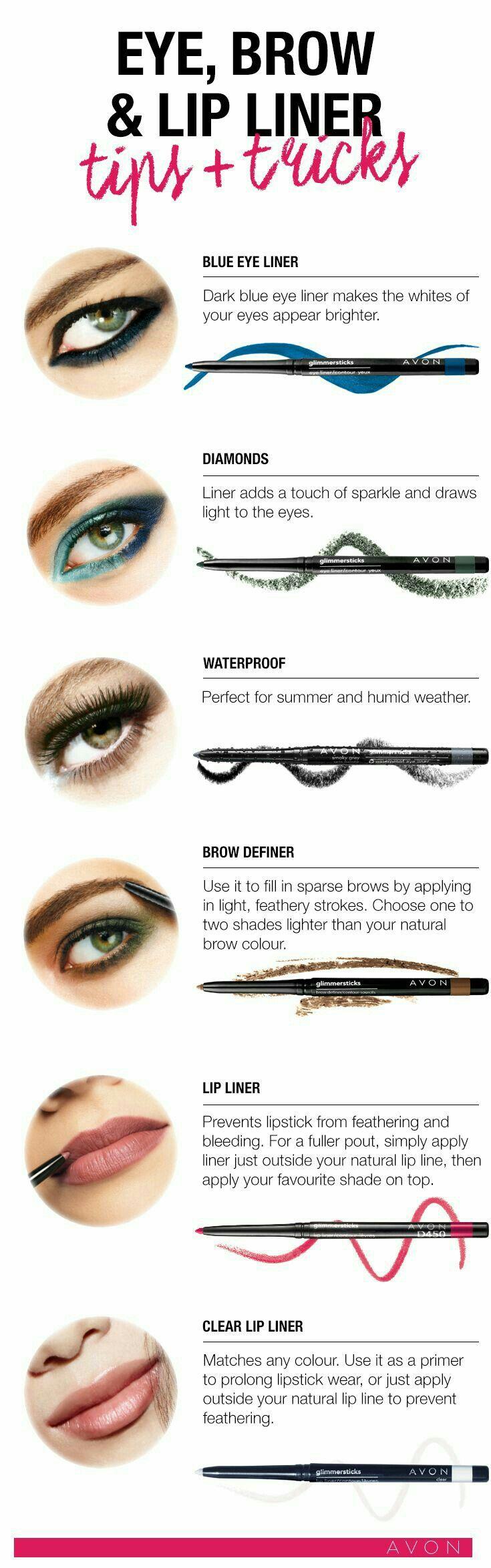 Liner Tips! Try Glimmersticks 1-888-801-6398 Hablo Espanol www.youravon.com/gdorse
