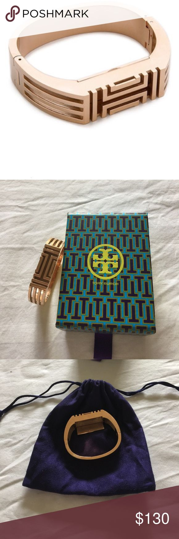 Tory Burch Fitbit Bracelet Rose Gold Sold out in Rose Gold at all retailers. Like new worn under 5 times. Tory Burch Jewelry Bracelets