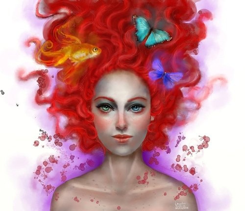 """Delirium. by agnes-green    """"This is my version of Delirium, from Neil Gaiman's """"The Sandman"""" series.  Time: 4 - 5 hours."""""""