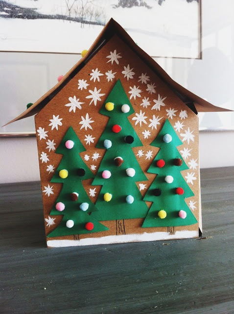 Make Your Own Cardboard Gingerbread House Christmas
