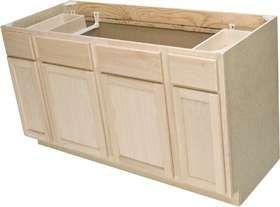 Best 60 In Unfinished Oak Sink Base Cabinet 5 Ft In 2020 Base 400 x 300
