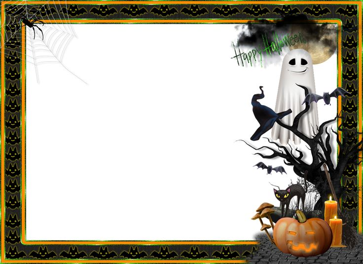 Halloween Transparent Large Photo Frame