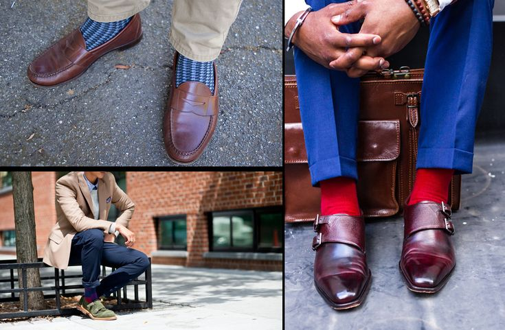 Už jsou v módě asi 3 roky, ale stále je spousta lidí nechápe. Barevné ponožky jsou fajn! Vypadají vtipně a stylově. Můžete je ladit třeba ke kravatě nebo ke kapesníčku. Můžete se u nich jednoduše módně vyblbnout. A vtipné je, že jdou vidět víceméně jen tehdy, když sedíte. A tak je to takový váš osobní vtipný a stylový detail.  Barevní ponožky od Kangol, 407 Kč za 7 kusu.
