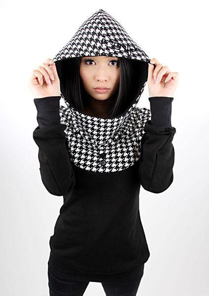 "MEKO Hoodie ""FLORA_1Hahn""  von meko® Store   auf DaWanda.com"