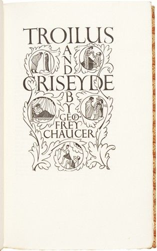 GOLDEN COCKEREL PRESS. CHAUCER, Geoffrey. Troilus and Criseyde. Edited by Arundell del Re.  Golden Cockerel Press. 1927.
