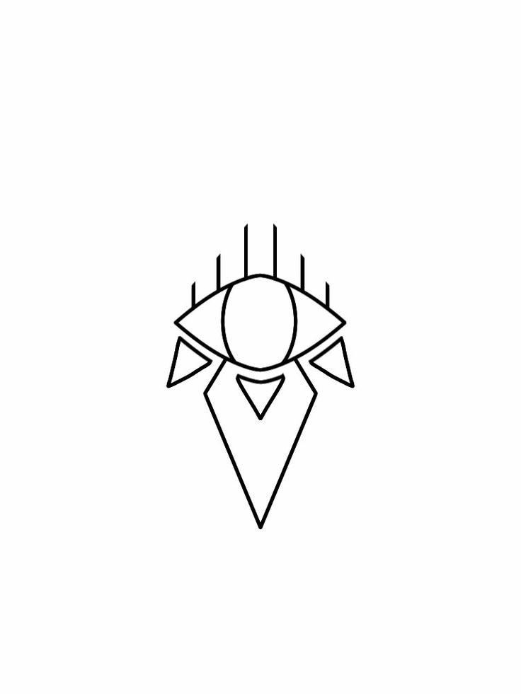 Third eye sheik tattoo design flash