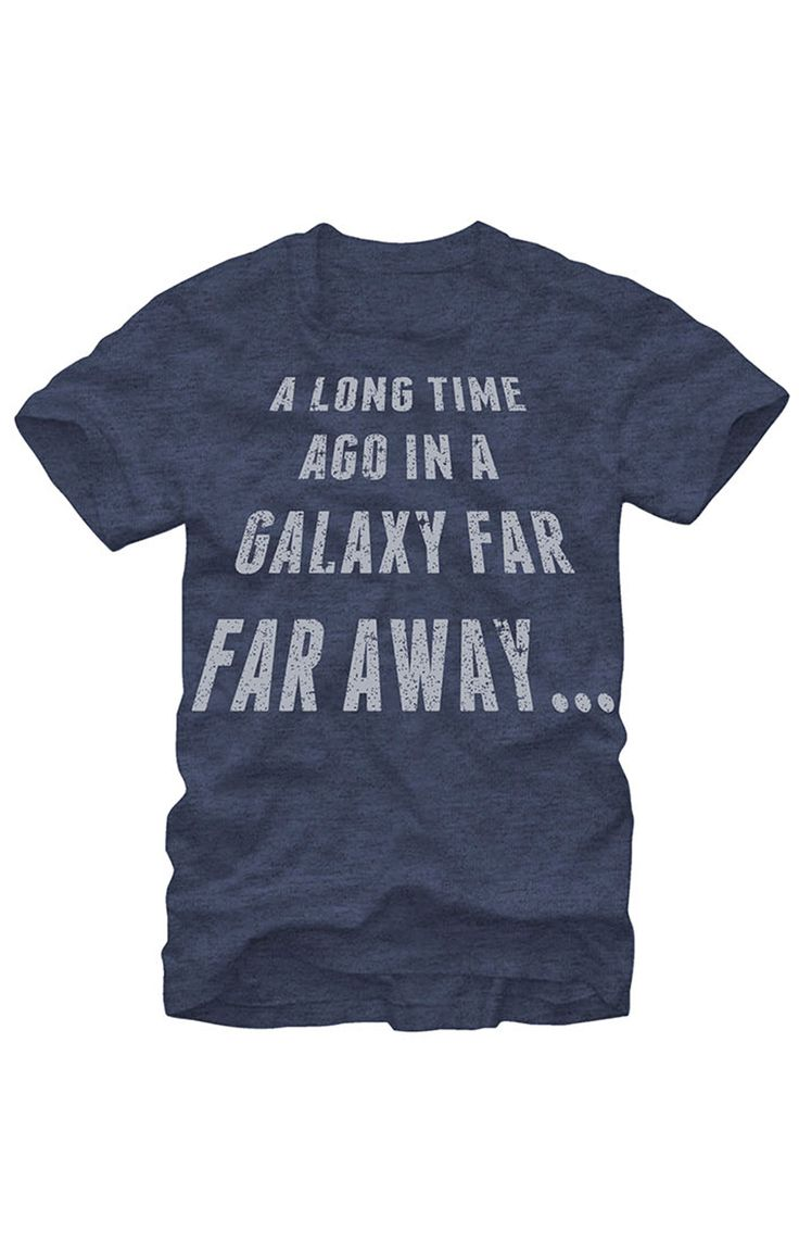 """A long time ago in a galaxy far away"" Star Wars t-shirt"