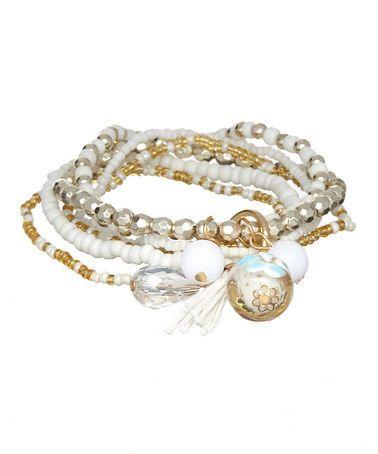 Look what I found on #zulily! White Mixed Bracelet Set #zulilyfinds