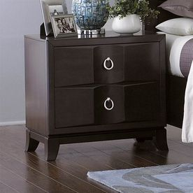 Homelegance Edmonston Espresso Asian Hardwood Nightstand 2222-4