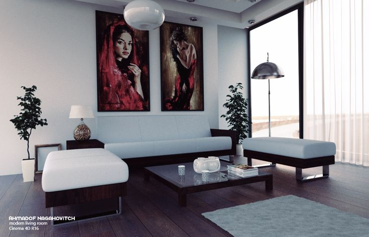 Living room cinema 4d r16 vray cinema 4d vray4d vray for Living room cinema 4d