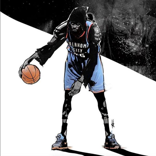 Kevin Durant 'Assassin's Creed' Illustration