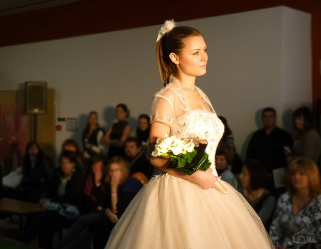 Wedding dress show - presented with our accessories including flowers