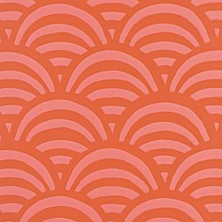 Accent wall behind bed // Lamu Wallpaper – Coral #serenaandlily