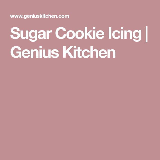Sugar Cookie Icing | Genius Kitchen