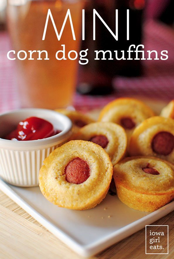 Mini Corn Dog Muffins are a fun and unique snack recipe for any special or ordinary occasion! | iowagirleats.com