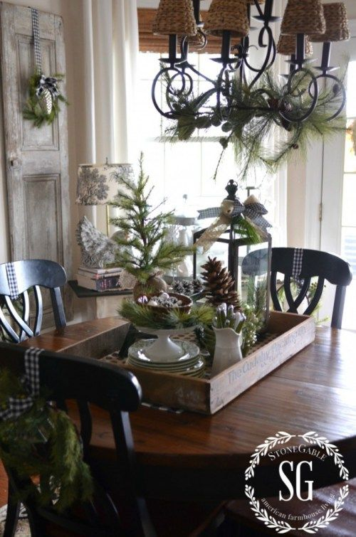 I'm excited to invite you to stop no. 6 in my series... Creating Christmas Memories with Vignettes. I know you'll love this Farmhouse Christmas Vignette arranged on the kitchen table.
