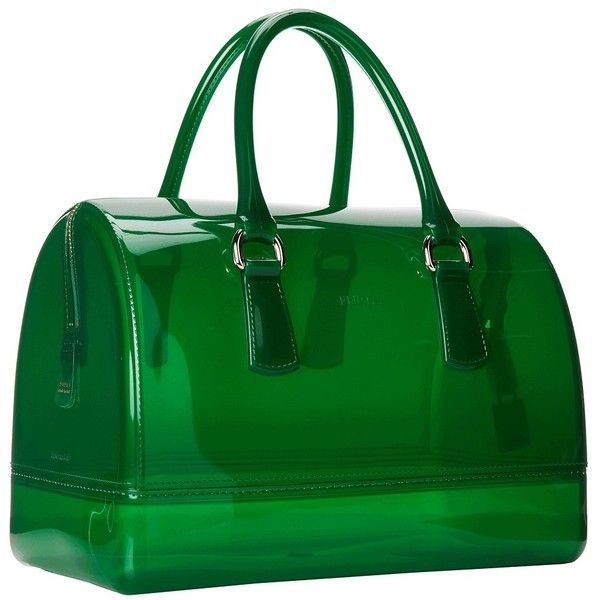 Furla Candy Medium Satchel ❤ liked on Polyvore featuring bags, handbags, medium satchel handbags, furla purses, green purse, green bags and green handbags