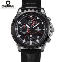 Luxury Brand men's watch Stainless steel quartz watch Fashion  Sports calculagraph luminous waterproof 100m clock CASIMA#8203(China (Mainland))