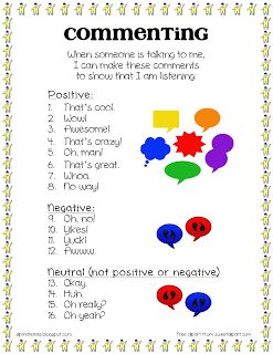 Pragmatics: Commenting in Conversation - Pinned by @PediaStaff – Please Visit ht.ly/63sNtfor all our pediatric therapy pins