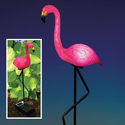 Solar-Powered Light-Up Flamingo