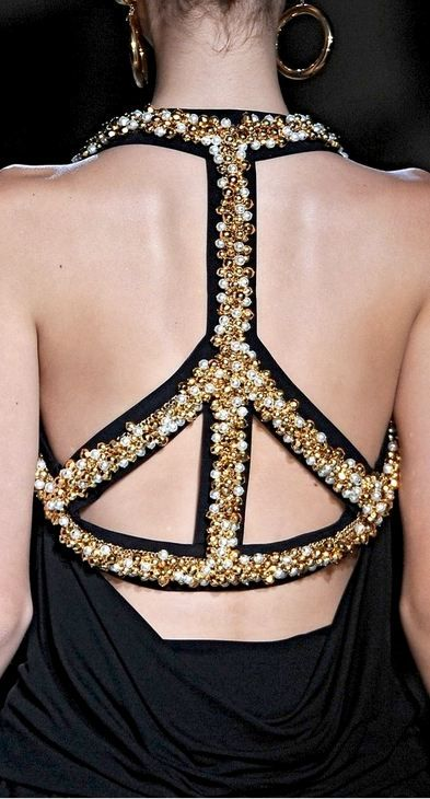 Moschino SS 10  Backless Peace sign :)