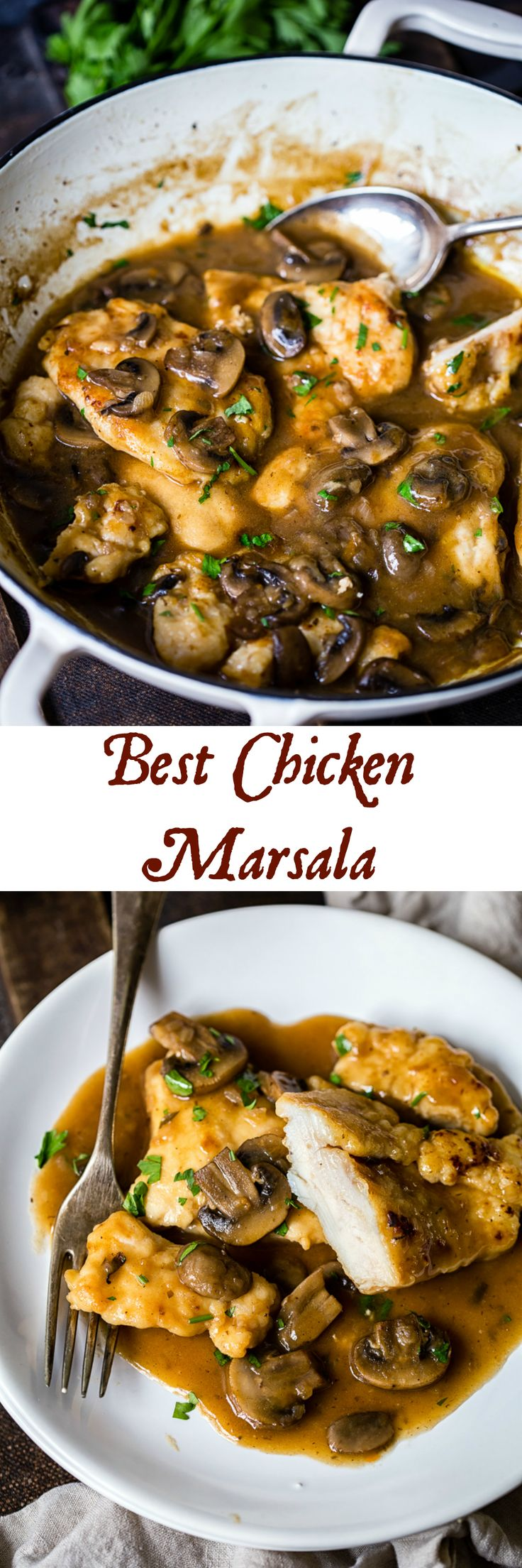 Enjoying this delicious homemade Chicken Marsala doesn't require a restaurant trip, only 25 minutes of your time and a handful of ingredients found at home!