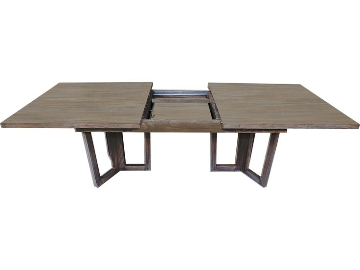 Brownstone Furniture Palmer 100''L x 41''W Rectangular Driftwood Gray Extension Dining Table  100L  x 45w  $2675