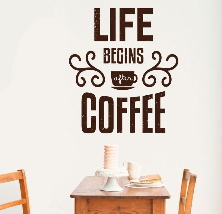 מדבקת קיר לאחר הקפה