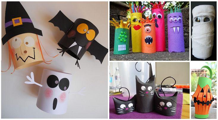 Plus de 30 bricolages d'Halloween à faire avec des rouleaux de papier hygiénique!