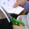 Cutting properly with left-handed scissors. Also has resources for writing, playing sports, computer equipment, information books for parents, etc.
