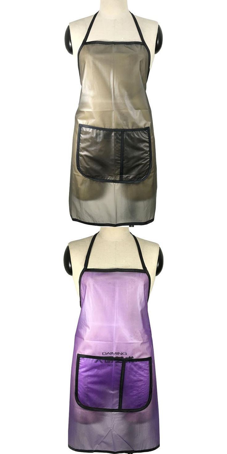 [Visit to Buy] Waterproof Hairdressing Apron In Light Weight PVC Apron Uniform For Salon And Household With Big Pocket Easy To Wash  #Advertisement