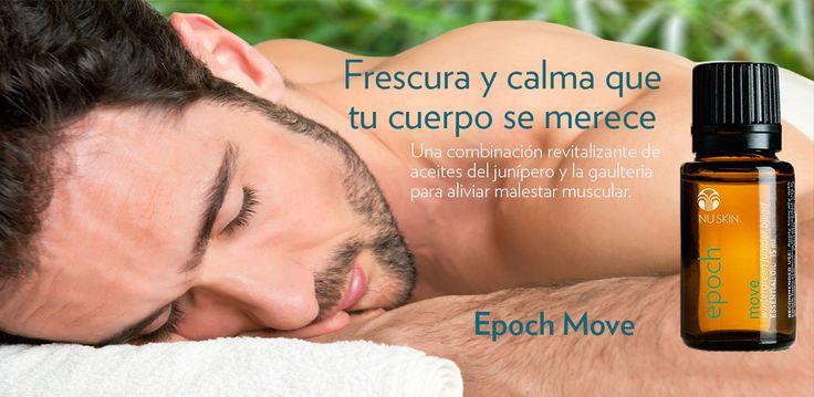 Epoch Move—Combínalo con el Aceite Difusor Tópico y aplícalo tópicamente a la piel para aliviar la molestia muscular temporal.