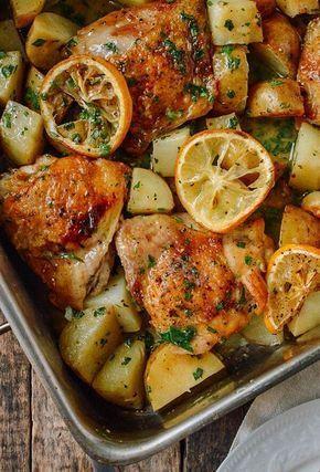 *.* Pollo asado al limón con patatas al horno - Comunidad De Recetas Caseras ^^