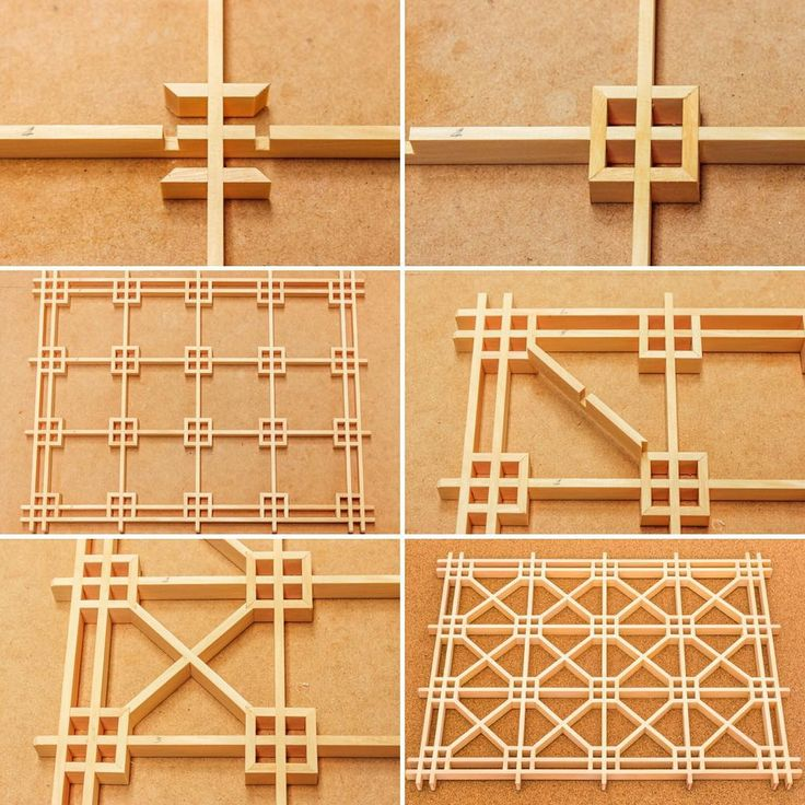Yae shokkō 八重蜀江 Back to the shokkō patterns, and this one is the yae shokkō. This is essentially the same pattern as the previous yae tsuno-shokkō, except the internal squares are formed with mitre joints rather than half-lap joints with extensions, and the locking pieces are connected to the corners with jaguchi joints. In this design, the jigumi is exactly the same as the yae tsuno-shokkō. So after assembling the jigumi, the first step is to cut the internal squares. As with most of the…