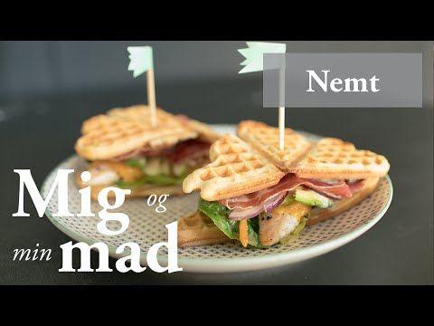 Kyllingesandwich med vafler og dijondressing - Se opskrift