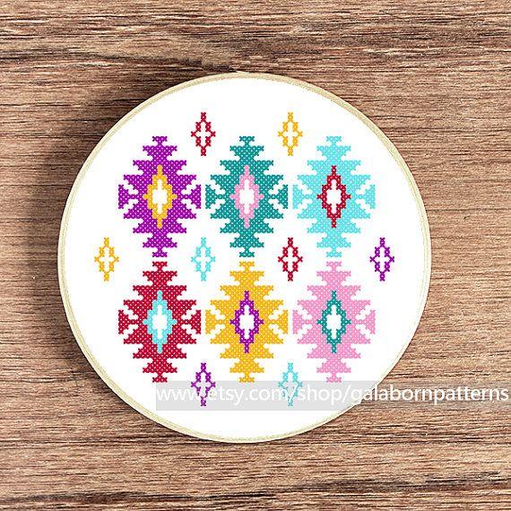 Ikat cross stitch pattern PDF Counted cross por galabornpatterns