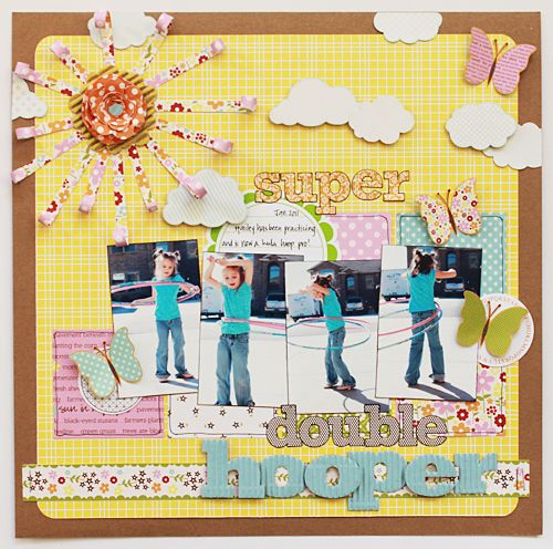 : Scrapbook Ideas, Blossoms Soups, Scrappy Inspiration, Scrapbook Inspiration, Hooper Jillibean, Scrapbookingsumm Layout, Becky Williams, Scrapbook Layout, Double Hooper