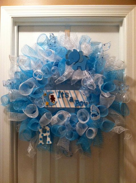 Baby Shower Wreath Images ~ Best images about baby boy wreaths on pinterest deco
