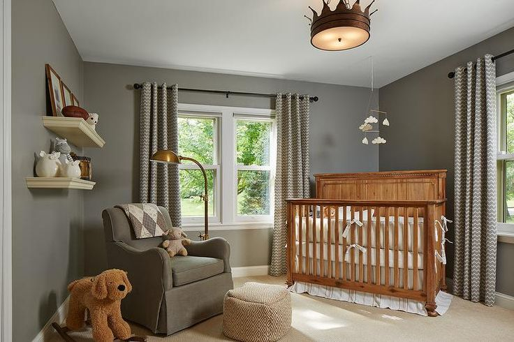 Amazing girl's pink nursery design with off-white walls paired with tan crown molding and baseboards. Description from decorpad.com. I searched for this on bing.com/images