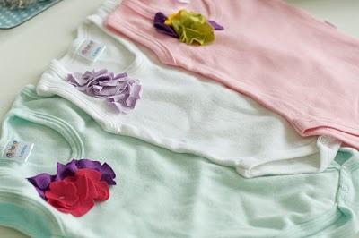 DIY corsage onesies