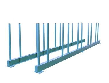126 Inch Stone Slabs Storage Rack (1 Set Rail with 14 Rack Post)