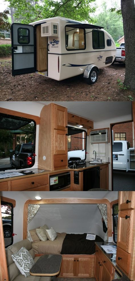 """Lil' Snoozy"" Small Travel Trailer 18 ft. 6 in. x Height 7 ft. 7 in., Width 8 ft."