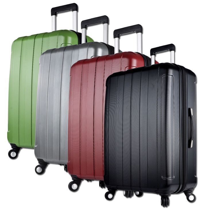 Luggage Suitcase 20 24 28 inch Universal Wheels Trolley Rolling ABS PC 4 Colors | eBay