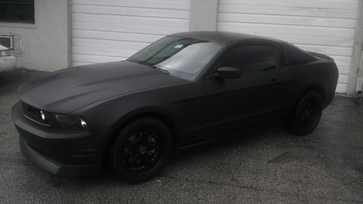 My new matte black 3M wrap 2010 Mustang GT