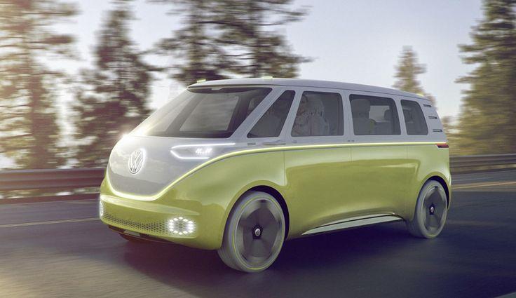 Volkswagen I.D. Buzz, concepto eléctrico del clásico vehículo.