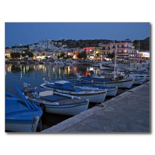 Elounda Postcard The harbour at Elounda, Crete.